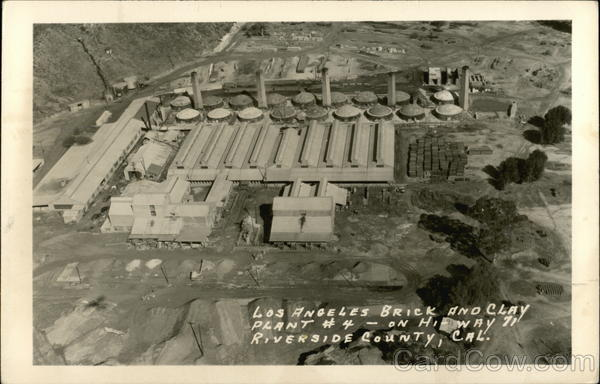 Los Angeles Brick and Clay Plant #4 Riverside County California