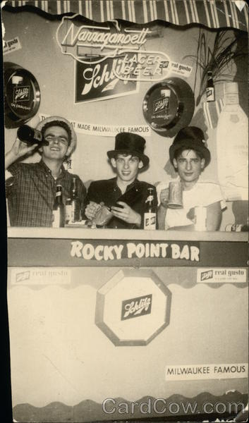 Rocky Point Bar Showing Schlitz Signage Warwick Rhode Island