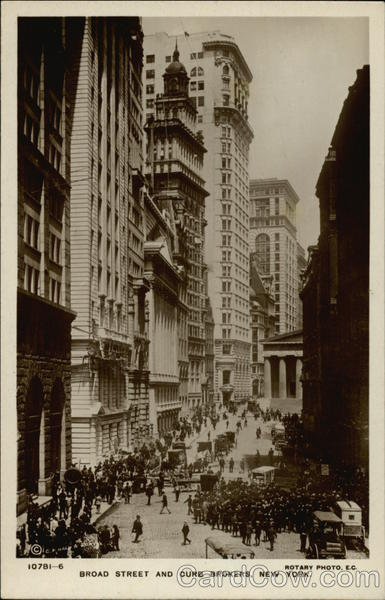 Broad Street and Curb Brokers New York Rotary Photo, E.C