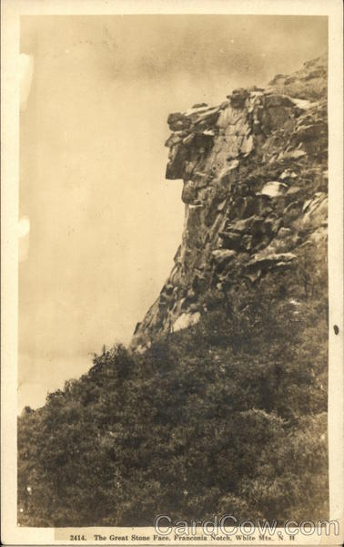 The Great Stone Face, Franconia Notch, White Mts., N.H New Hampshire