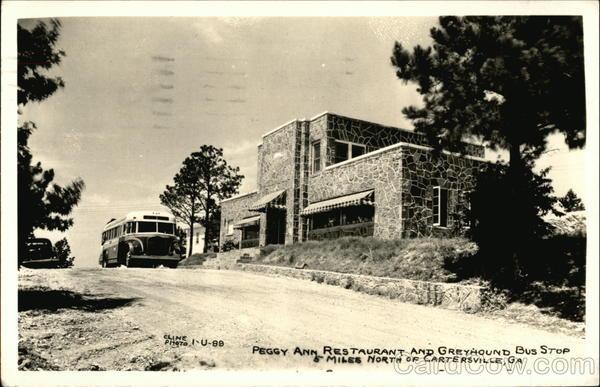 Peggy Ann Restaurant And Greyhound Bus Stop Cartersville Ga