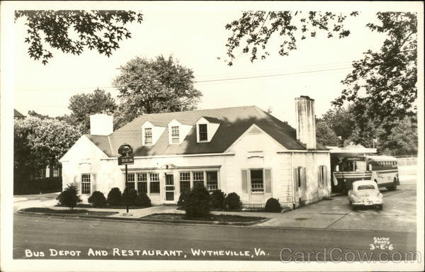 Bus Depot and Restaurant Wytheville Virginia