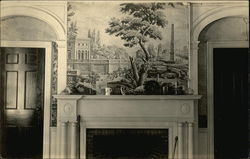 Interior Scene of Mural and Mantel