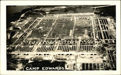 Aerial View of Camp Edwards Postcard