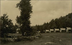 View of Cabins in Field Postcard