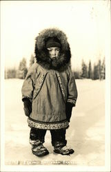 Eskimo Boy From Barrow Postcard