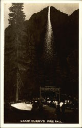 Camp Curry's Fire Fall