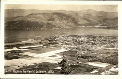 Mountain Top View of Sandpoint, Idaho