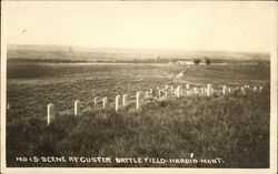 Custer Battle Field Postcard