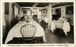 The Small Dining Room, Longfellow's Wayside Inn Postcard