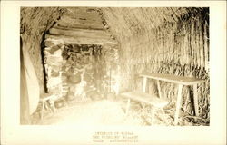 The Pioneers Village - Interior of Wigwam