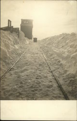 Snow on Railroad Tracks