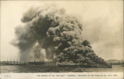 "The Burning of the Tank Boat ""Harrison"""