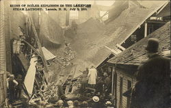 Ruins of Boiler Explosion in the Lakeport Steam Laundry, July 5, 1910