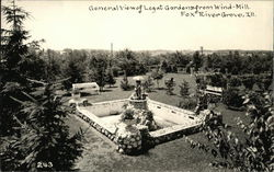 General View of Legat Gardens from Wind-Mill Postcard