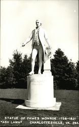 Statue of James Monroe, 1758-1831, at Ash Lawn