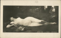Nude Painting of Woman on Grass