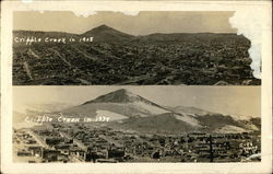 Views of Cripple Creek in 1908 and 1938