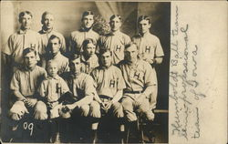 Portrait of Humboldt Baseball Team 1909 Postcard