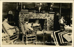 Huge Fireplace, Cambria Pines Lodge
