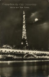 Eiffel Tower - Illuminations at Night
