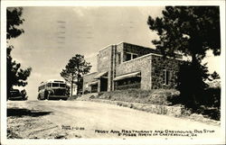 Peggy Ann Restaurant And Greyhound Bus Stop Postcard