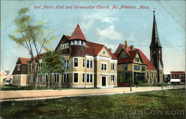 Red Men's Hall and Universalist Church North Attleboro Massachusetts