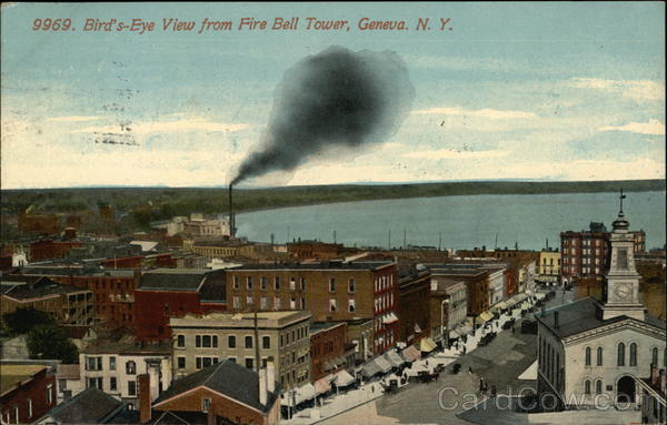 Bird's-Eye View From Fire Bell Tower Geneva New York