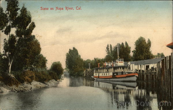 Scene on Napa River, Calif California