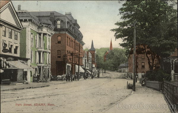 View Along Park Street In Adams Massachusetts
