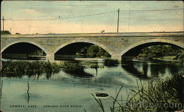 Concord River Bridge Lowell Massachusetts