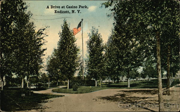 A Drive at Casino Park Endicott New York