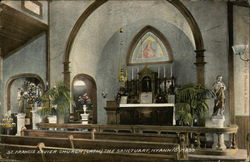 St. Francis Xavier Church (Cath.), The Sanctuary Postcard