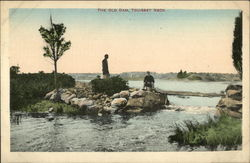 The Old Dam, Touisset Neck Postcard