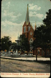 Odd Fellows Fountain & Trinity Church