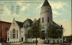 Travis Park Methodist Church Postcard
