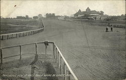 Panoramic View of Race Track Postcard