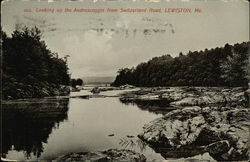 Looking up the Androscoggin From Switzerland Road