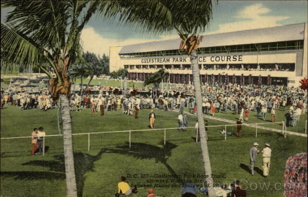 Gulfstream Park Race Track Hollywood Florida Horse Racing