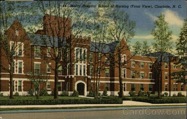 Mercy School Of Nursing >> Mercy Hospital School Of Nursing Front View Charlotte Nc
