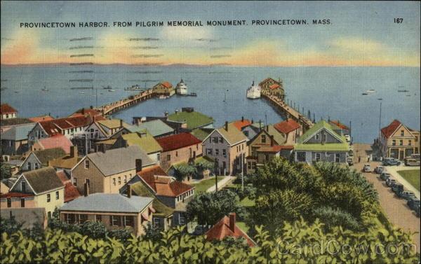 Provincetown Harbor from Pilgrim Memorial Monument Massachusetts