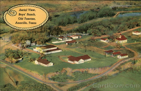 Aerial View Boy's Ranch, Old Tascosa Amarillo Texas