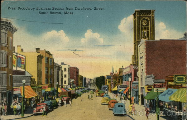 West Broadway Business Section from Dorchester Street South Boston Massachusetts
