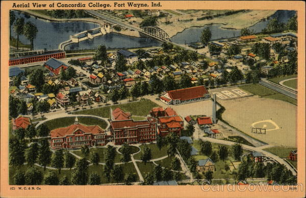 Aerial View of Concordia College Fort Wayne Indiana