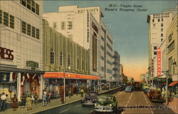Flagler Street - Shopping Street Miami Florida
