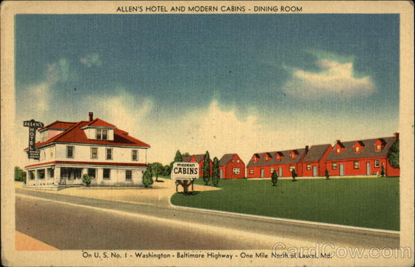 Allen's Hotel and Modern Cabins Laurel Maryland