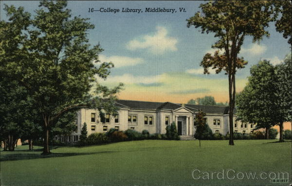 College Library Middlebury Vermont