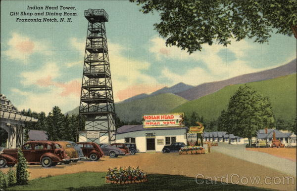 Indian Head Tower, Gift Shop and Dining Room Franconia Notch New Hampshire