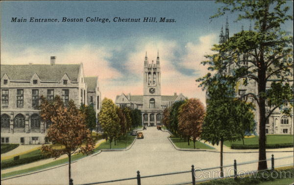 Main Entrance of Boston College Chestnut Hill Massachusetts