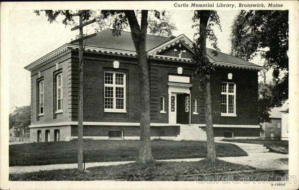 Curtis Memorial Library Brunswick Maine
